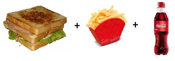 Americano + batata frita + refri