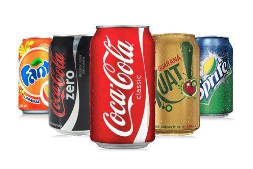 Refrigerante em lata - coca-cola