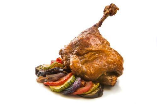 Coxa de confit de frango