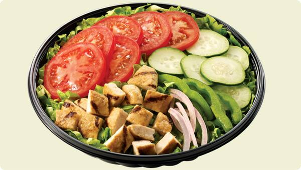 Prato salada - frango