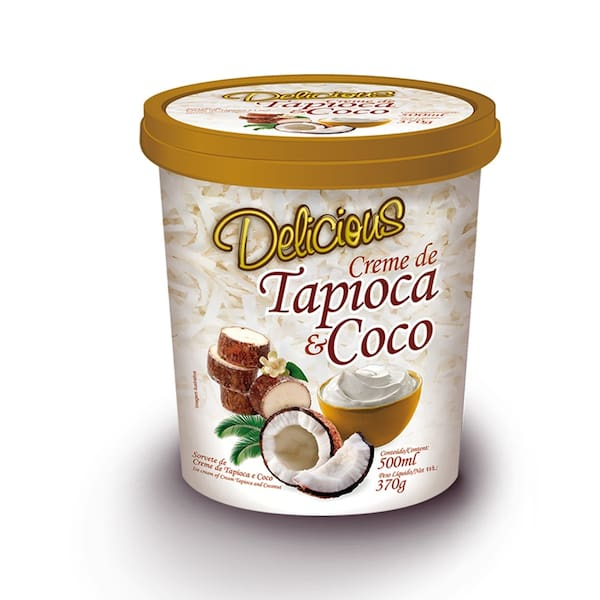 Creme de tapioca com coco 500 ml