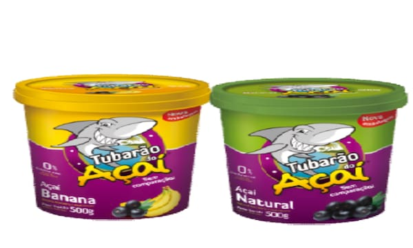 3 potes de açai de 200 g c/granola(natural,morango,banana)