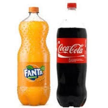 Refrigerante 1/5  Fanta laranja e Fanta guarana