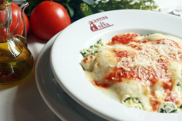 Caneloni espinafre com ricota