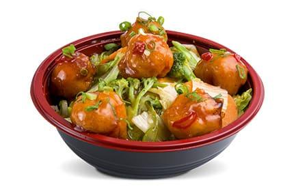 Yakisoba caramel chicken soba