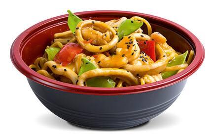 Yakisoba thai de frutos do mar