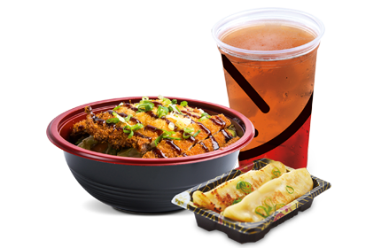 Combo Yakisoba Katsu Individual (delicioso filé empanado)