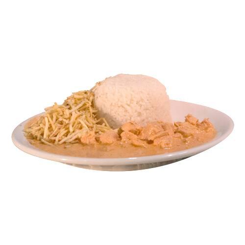 Refeição estrogonoff de frango