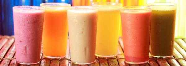 Sucos naturais (com leite) 300 ml