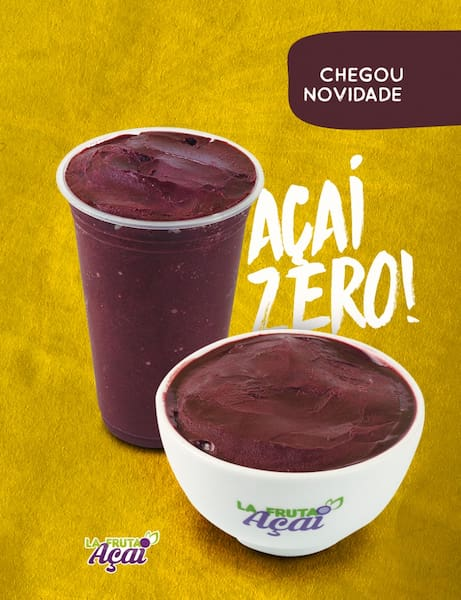 Açai Zero na Tigela 480ml