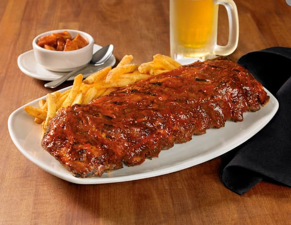 Ribs on the barbie