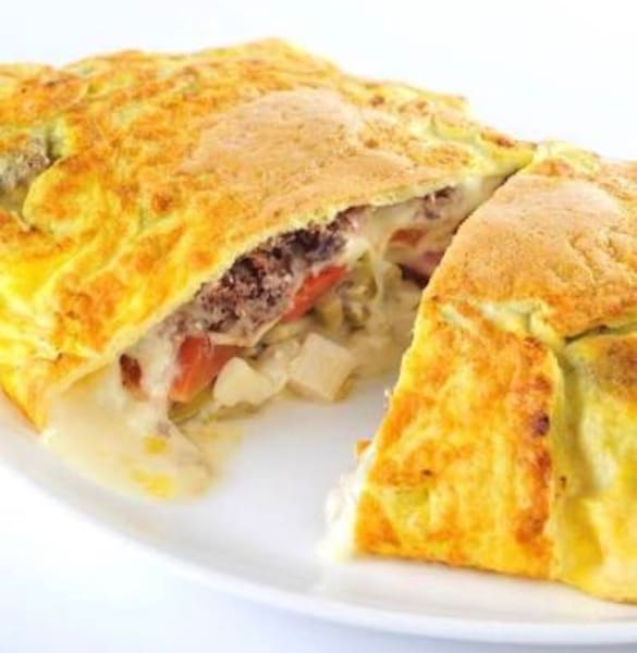 Omelete pizza