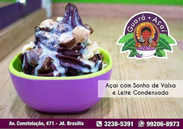 Açai com chocolate