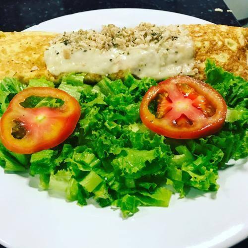 Omeletão frango Catupiry