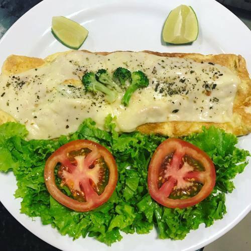 Omeletão de brócolis