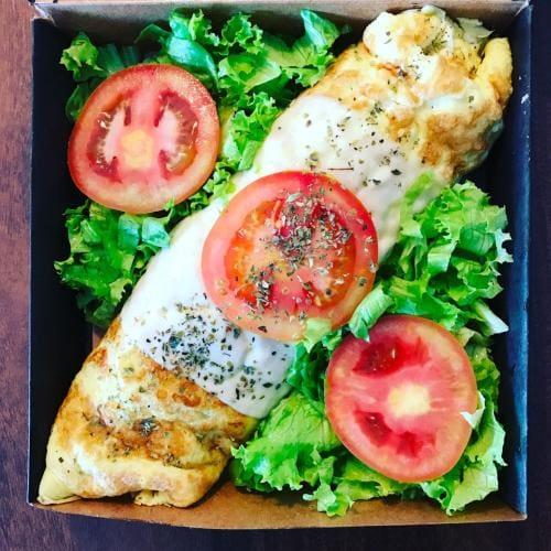 Omeletão de pizza