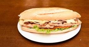 514 - frango, mussarela especial, bacon, cebola, alface e tomate
