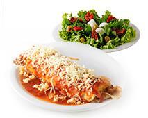 1/2 salada + panqueca