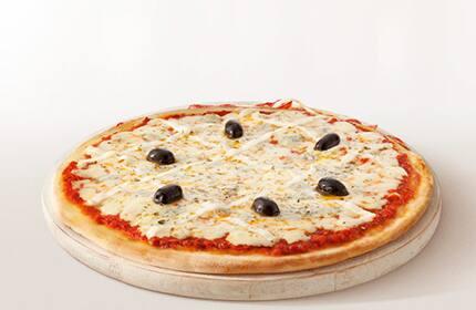 Pizza tradicional meio a meio (2 sabores)