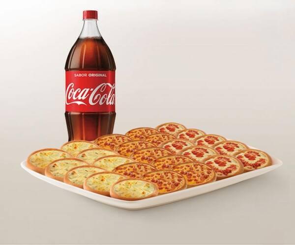 Promoção compre 20 leve 25 esfihas (Queijo, Queijo com Goiabada ou Italianinha) + Refrigerante 2l ou Suco 1l
