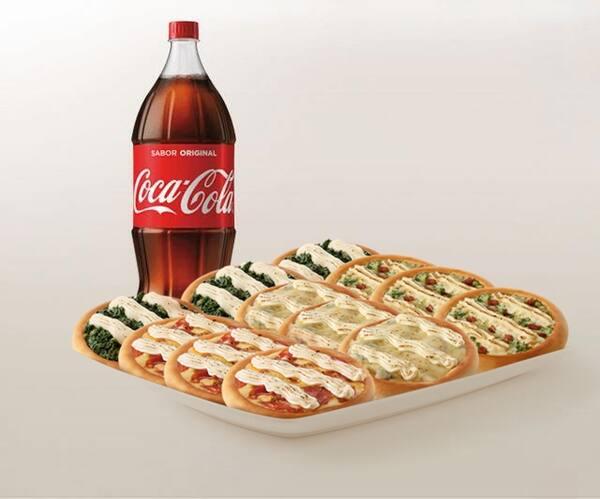 Promoção compre 10 leve 12 esfihas premium + refrigerante 2l ou suco 1l