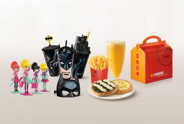 Kit infantil habib's esfiha (2 esfihas + batata grande + suco premium 500ml + brinde)