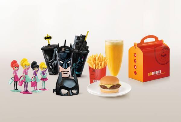 Kit infantil habib's burger (batata média + suco 300ml + brinde)