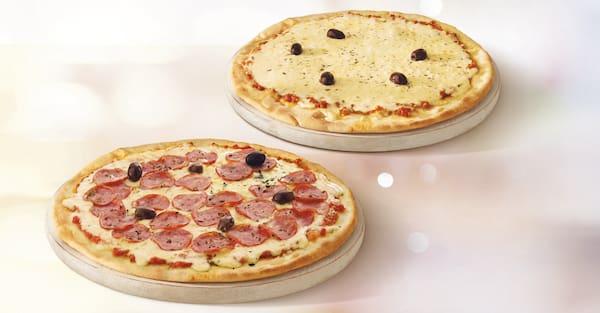 Mais por menos: pizza tradicional casadinha