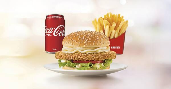 Combo bib's chicken crispy + fritas g + bebida 300 ml