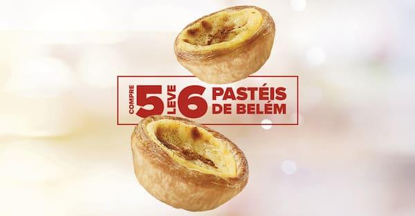 Compre 5, leve: 6 pastéis de belém