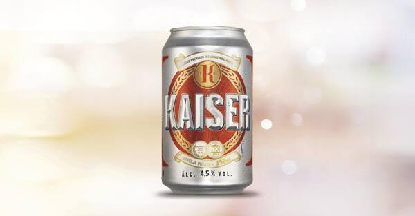 Cerveja Kaiser lata 350 ml