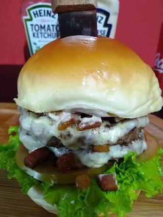 X-Bacon+batata frita média+refrigerante de 269ml