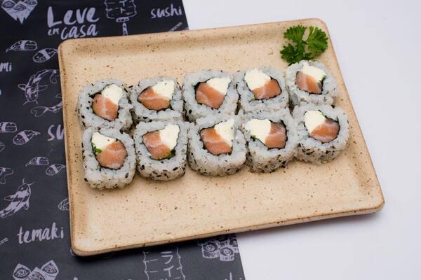 Roll uramaki de salmão - 10 unidades