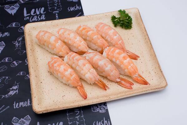Sushi de camarão - 8 unidades