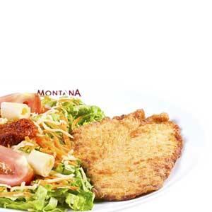 Frango Empanado + Salada