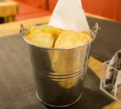 Porção de batata chips - grande
