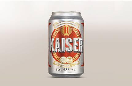 Cerveja Kaiser de lata de 350ml
