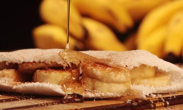 Banana com queijo e doce de leite