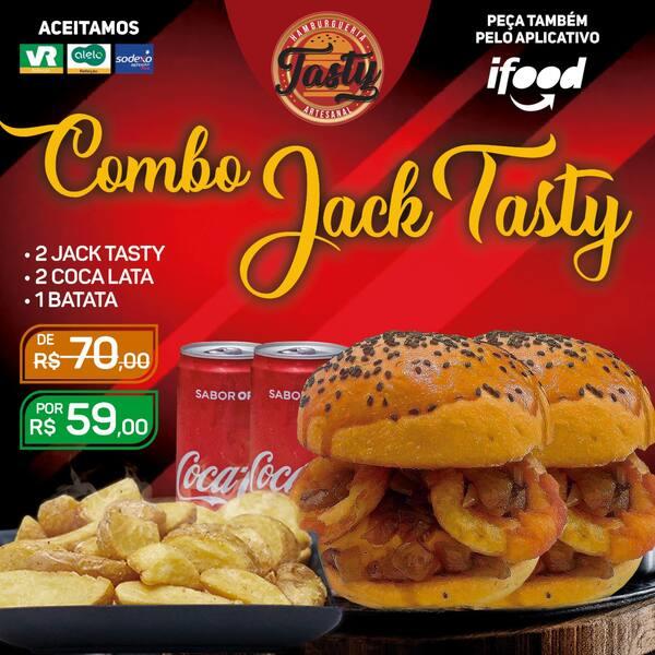 Combo jack: 2 jack / 2 coca-lata / 1 bat ind