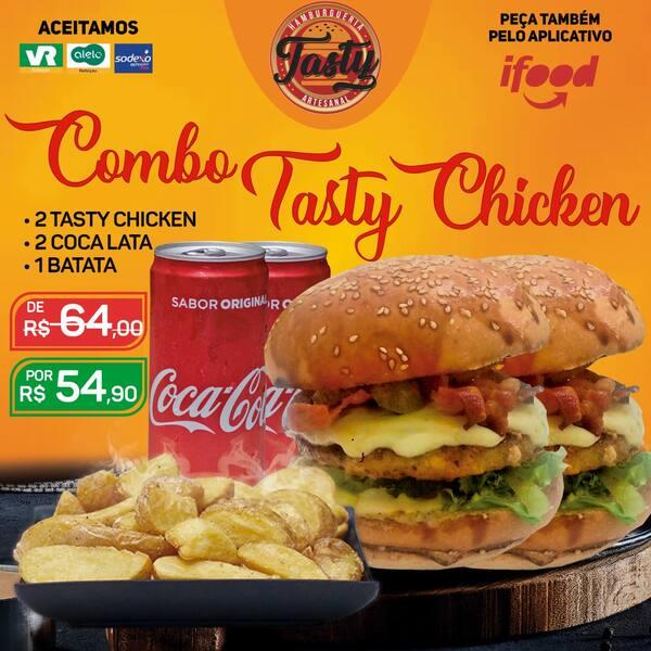 Combo Chicken: 2 Tasty Chicken / 2 Coca-Lata / 1 Batata Individual