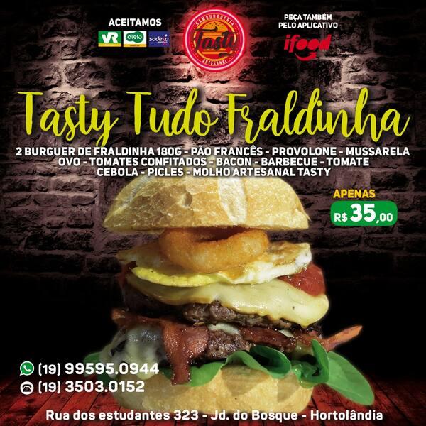 N 14-tasty all fraldinha ( 2 burger de fraldinha 180g)