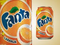 Fanta laranja lata