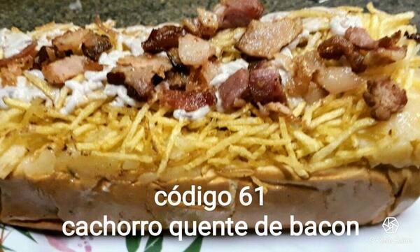 Cachorro quente bacon