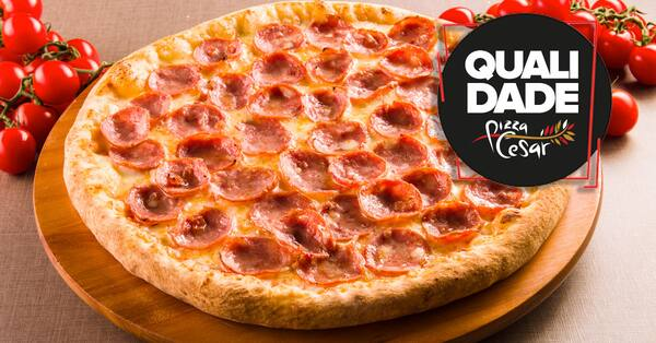 Pizza grande calabresa sensacional