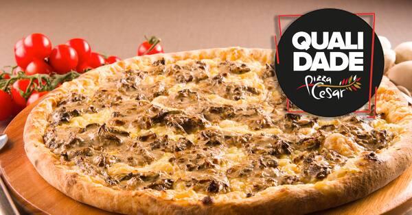 Pizza de funghi a perfeição