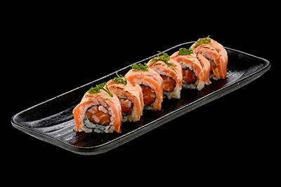 102512 - uramaki de salmão trufado - 8 unidades