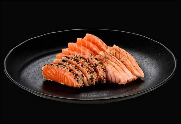 104012 - sashimi salmão mix - 15 uidades