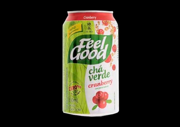 100033 - Chá Feel Good Verde com Cranberry - 330ml