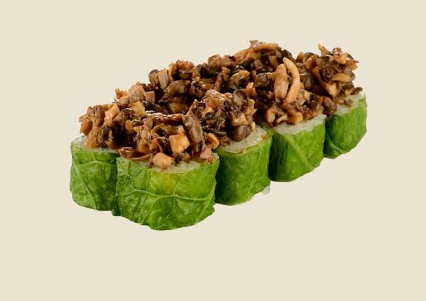 102518 - linha vegetariana - acelgamaki veggie com shimeji - 8un
