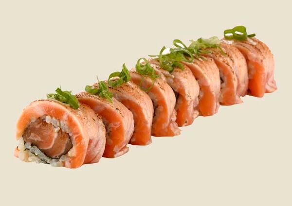 102207 - linha integral - uramaki de salmão trufado - 8un